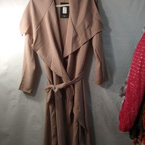 Fashion Nova business/casual long duster wrap coat